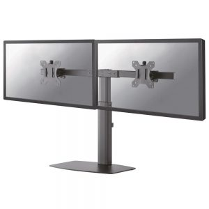 "MountingSuitable forComputer monitorMinimum screen size compatibility25.4 cm (10"")Number of displays supported2Minimum VESA mount75 x 75 mmMaximum VESA mount100 x 100 mmMountingFreestandingMaximum weight capacity6 kgMaximum screen size compatibility68.6 cm (27"")ErgonomicsHeight adjustmentYesHeight adjustment range352 - 462 mmSwivel angle range-10 - 10°Swivel angle20°Tilt angle range-20 - 20°Angle of rotation360°Number of pivot points1Technical detailsNumber of pivot points1Product colourBlackCable managementYesSuitable forComputer monitorDesignProduct colourBlackWeight & dimensionsPackage width260 mmPackage depth80 mmPackage height390 mmWidth738 mmDepth50 mmHeight480 mmLogistics dataMaster (outer) case width41 cmMaster (outer) case length26.5 cmMaster (outer) case height28 cmQuantity per master (outer) case3 pc(s)Other featuresMountingFreestandingCountry of originChina"